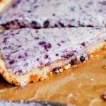 Пирог с чернично-творожной начинкой