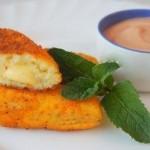 Картофельные палочки с сыром в панировке