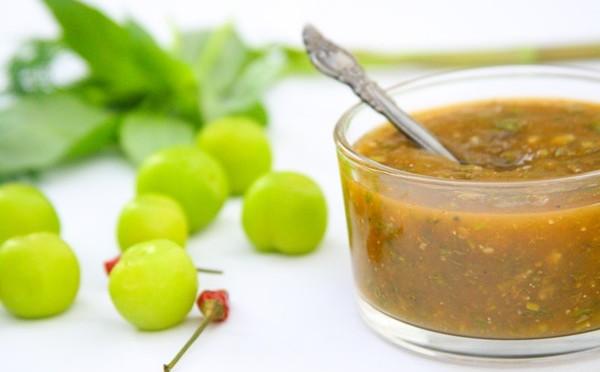 Яблочный соус к мясу быстро