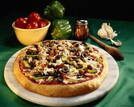 Пицца из опарного дрожжевого теста