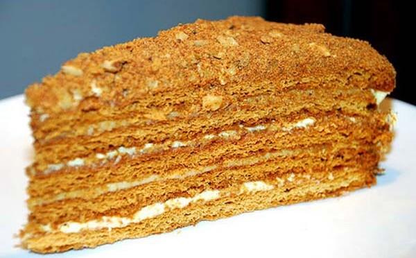 Торт с сметанным кремом рецепт с фото