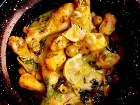 Курица по-мароккански с солеными лимонами