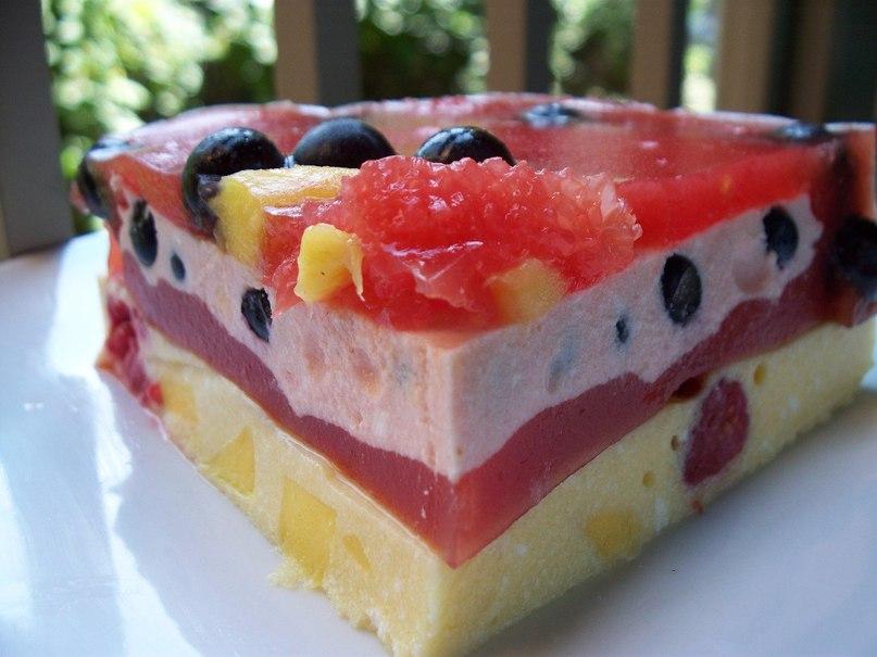 кекс из рикотты, банана, ягод, фруктов рецепт с фото
