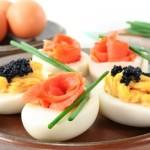 Яйца как закуска: фаршированные, желейные, маринованные
