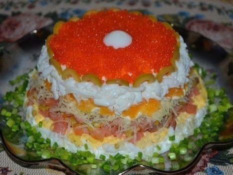 Слоеный салат «Жемчужина»
