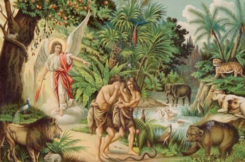 изгнании Адама и Евы из рая за непослушание и невоздержание