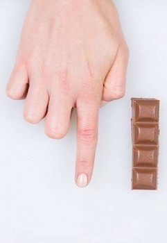 Шоколад - указательный палец