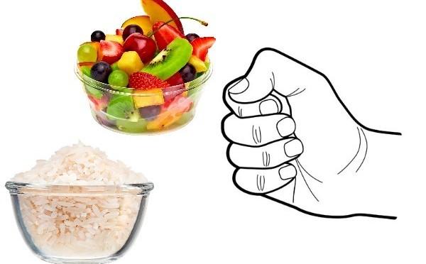 похудеть правило кулака