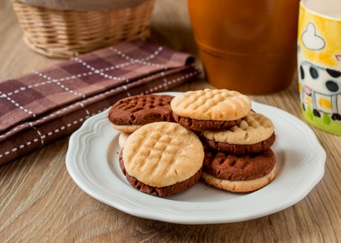 Печенье песочное шоколадно-ванильное