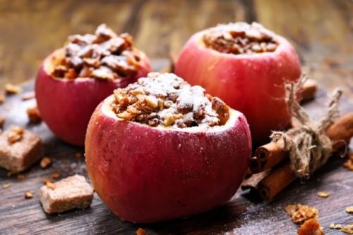 Печеные яблоки на гриле