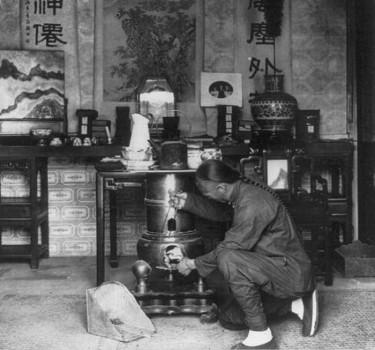 Приготовление чая в Пекине, 1901 год